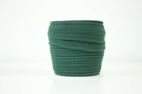 Jersey Paspelband tannengrün elastisch