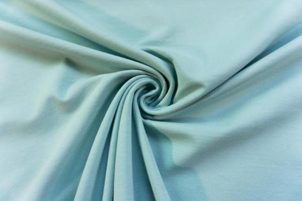 Baumwolljersey SCHWER UNI dusty mint -hohe Sprungkraft- Ökotex 100