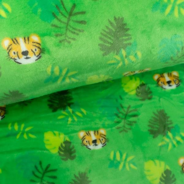 Kuschelfleece Löwe apfelgrün