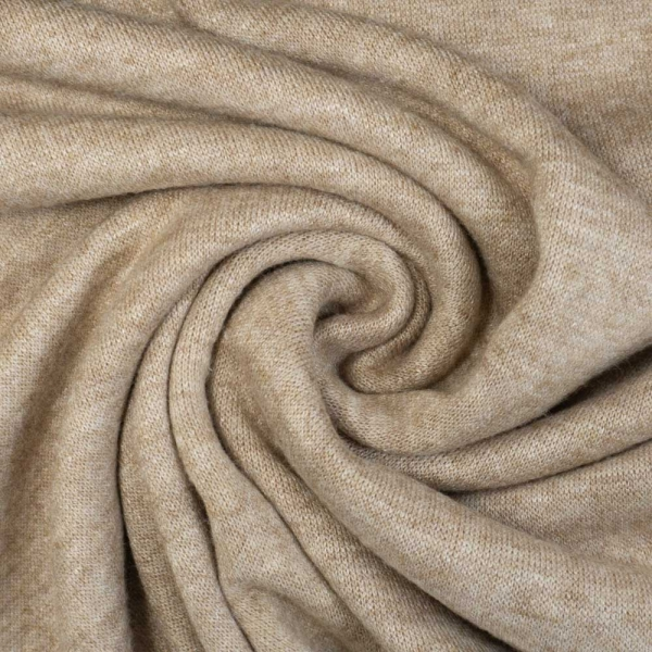 Strickjersey Cuddly Soft Melange beige