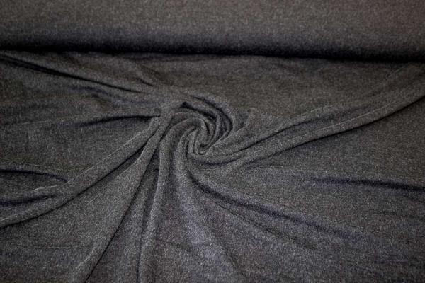 Viskosejersey SOFT-TOUCH schwarz meliert