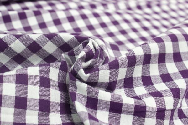 Baumwolle Vichy GROß lila/weiß Öko Tex 100