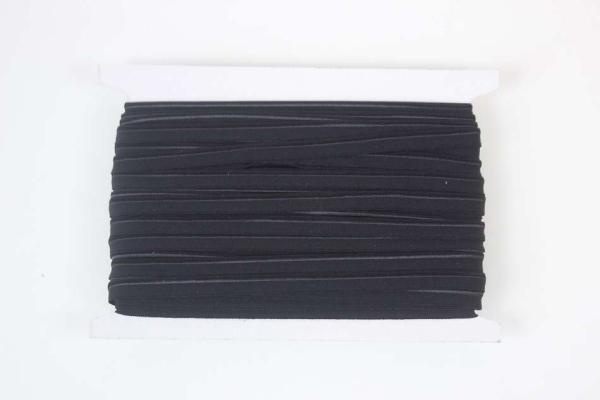Elastisches Paspelband schwarz