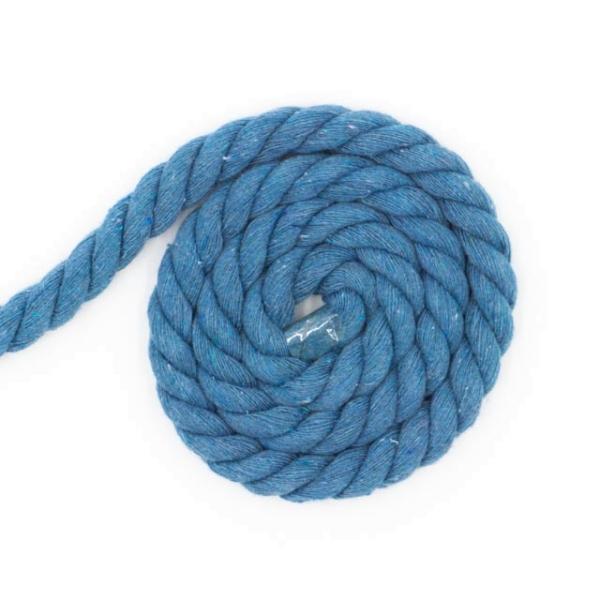 Soft Kordel 10mm gedreht jeansblau