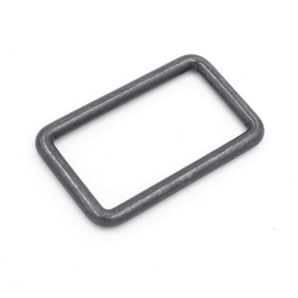 Rechteck-Ring schwarz antik 30mm