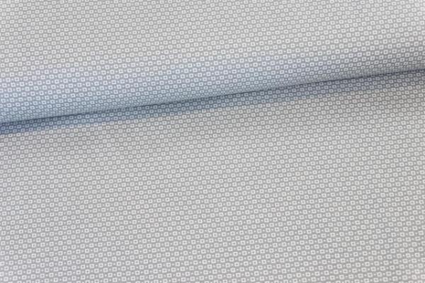 Baumwollwebware Kleine Quadrate grau Ökotex 100