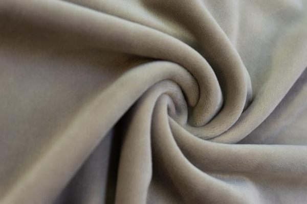 Velvet Samt-Sweat elastisch beige Ökotex 100