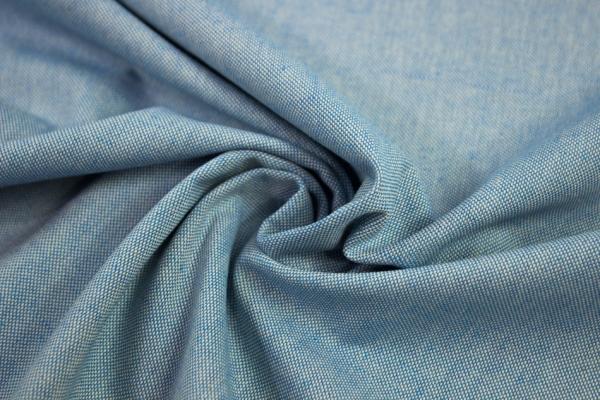 Canvas Uni MELIERT blau 100% Baumwolle Ökotex 100
