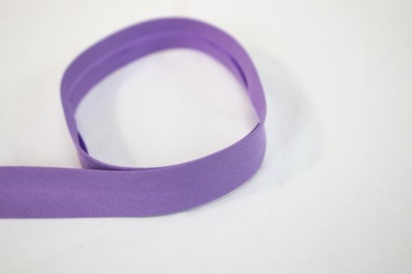 Elastisches Schrägband vorgefalzt flieder Ökotex 100