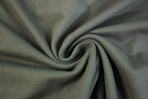 Poloshirt Baumwolljersey Uni khaki dunkel Ökotex 100