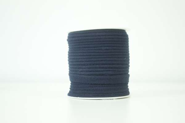 Jersey Paspelband navy elastisch