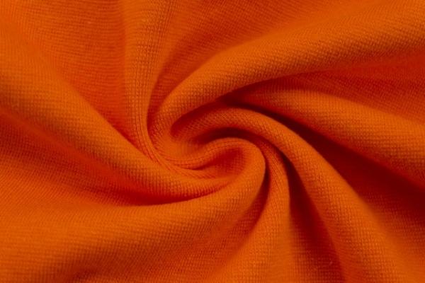 Bündchen Feinstrick Uni orange -hohe Sprungkraft- Ökotex 100