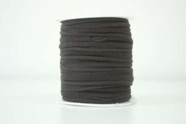 Jersey Paspelband braun elastisch