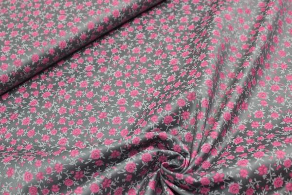 Baumwolle/Webware ROMANTICO Roses Dark grey Öko Tex 100