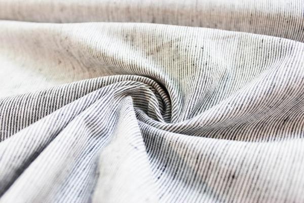 Leinen-Baumwolle Stripes schwarz Ökotex 100