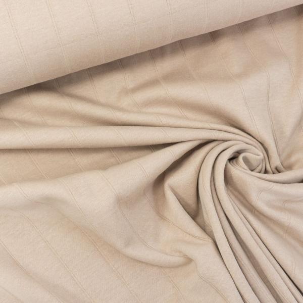Musselin Jersey Double Uni beige