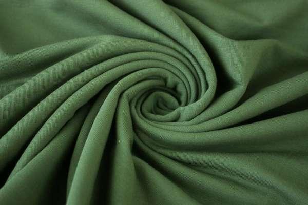 Sweat unangeraut - French Terry olivegrün Ökotex 100