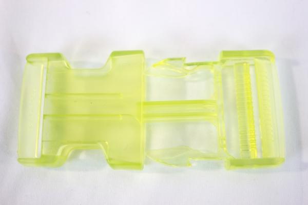 Rucksackschließe lime 40mm Kunststoff