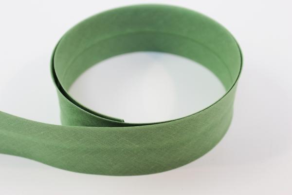 Schrägband 2cm oder 4cm breit vorgefalzt grün Ökotex 100