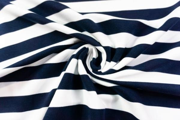 Sweat French Terry Preppy Stripes navy Ökotex 100
