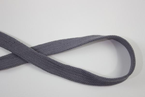 18mm Hoodie Kordel Flachkordel anthrazit Baumwolle Ökotex 100
