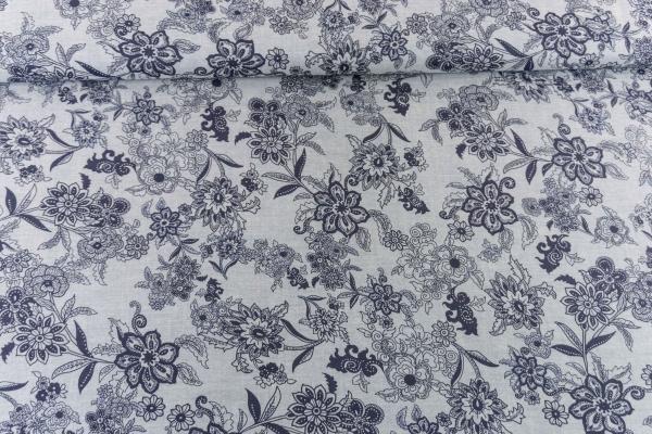 Chambray Blütenranke Ökotex 100