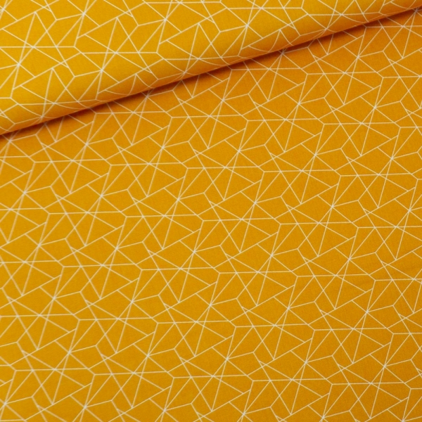 Baumwollwebware Dreiecke senf