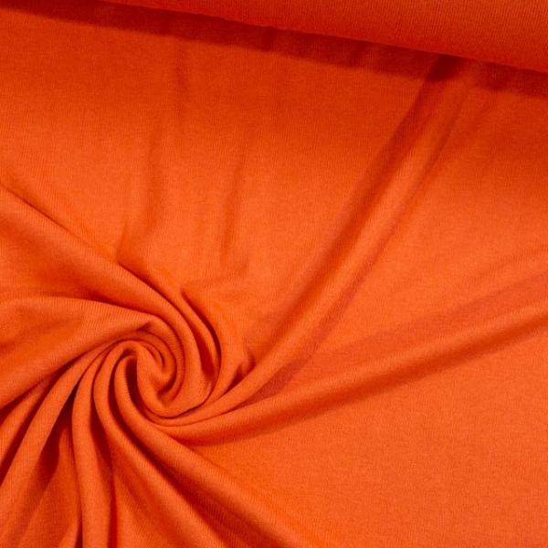 Feinstrick Jersey Deluxe orange Ökotex 100