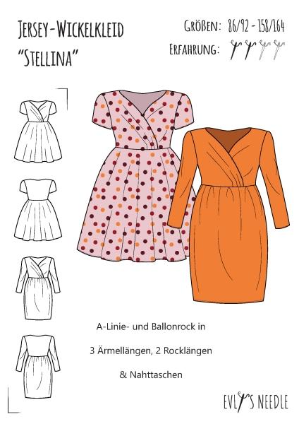 Papierschnitt Mädchenkleid Stellina für elastische Stoffe by EvLis-Needle