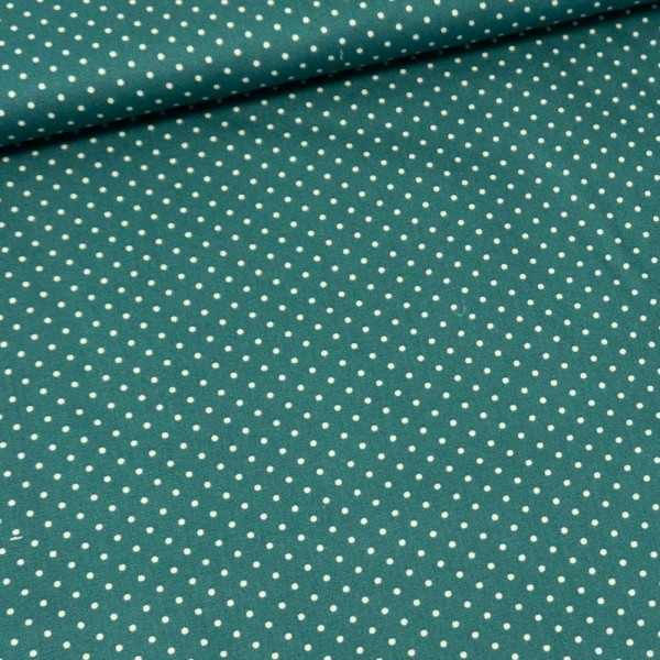 Baumwolle/Webware Petit Dots petrol Ökotex 100