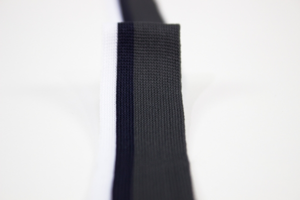 Galonband grau-weiß-navy Ökotex 100