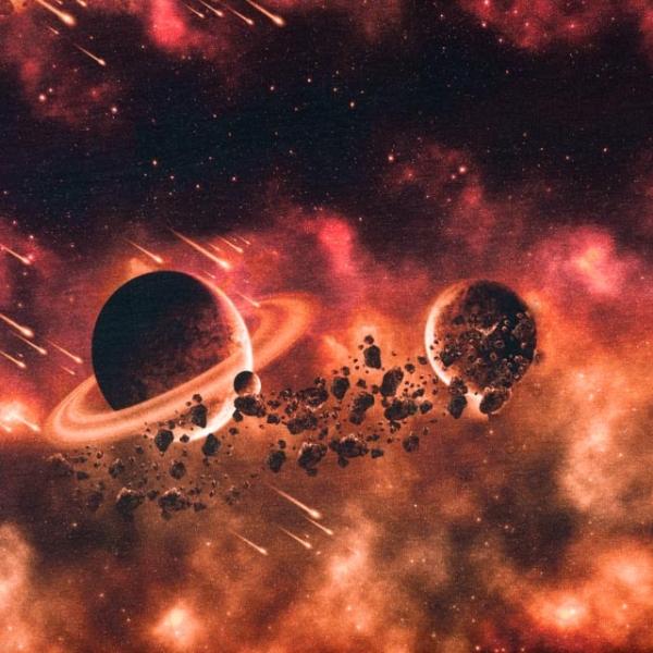 Bio-Baumwolljersey Galaxy Space terra