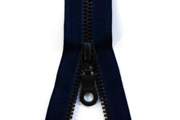 YKK teilbarer Reißverschluss Metall navy Ökotex 100