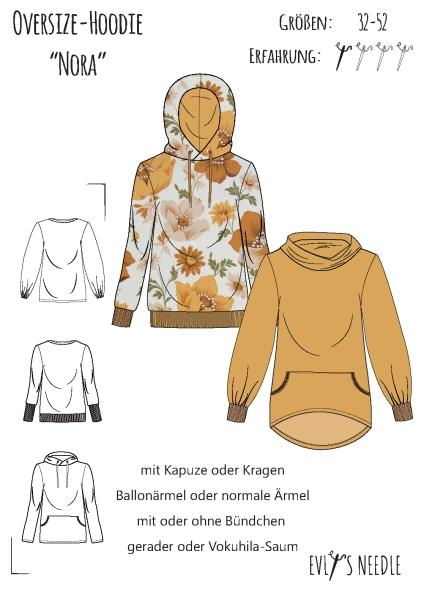 A0-PDF-Datei-Schnittbogen NORA Oversize-Hoodie