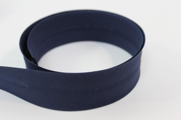 Schrägband 2cm oder 4cm breit vorgefalzt navy Ökotex 100