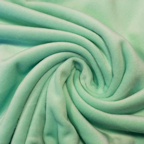 Velvet Samt-Sweat angeraut elastisch mint