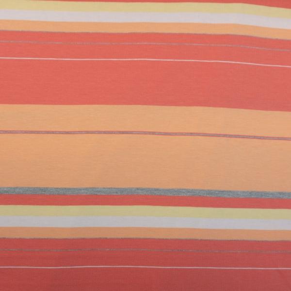 Baumwolljersey Große Streifen orange