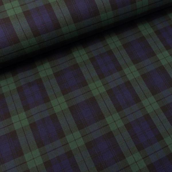 Twill Wool Touch Schottenkaro navy-grün