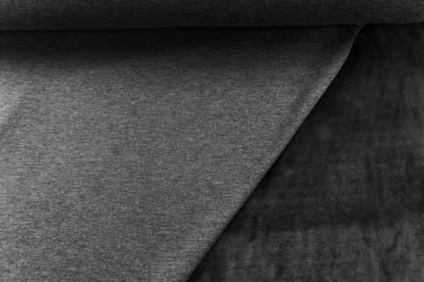 Alpenfleece Sweat Meliert anthra Ökotex 100 - ohne Polyester -