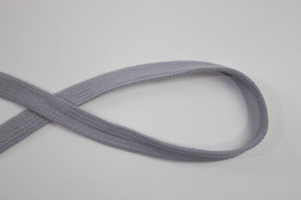 18mm Hoodie Kordel Flachkordel hellgrau Baumwolle Ökotex 100