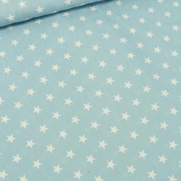 Baumwolle/Webware Stars hellblau Ökotex 100