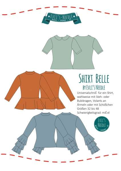 "Ebook Shirt ""BELLE"" by EvLi's-Needle"