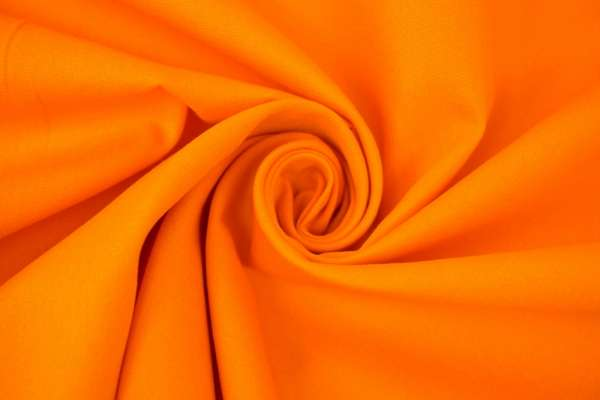 Baumwolle/Webware Uni orange Ökotex 100