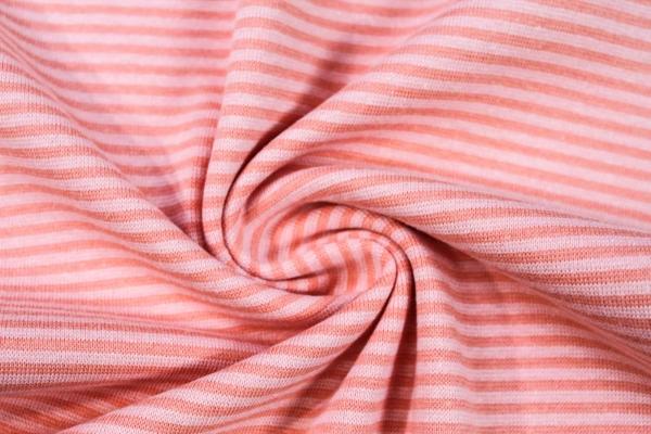 Ringel Bündchen Feinstrick orange-pastelrosa Ökotex 100