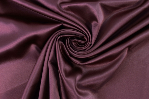 Satin Stretch Uni bordeaux Ökotex 100