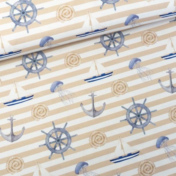 Canvas DIGITAL Maritime Vibes beige