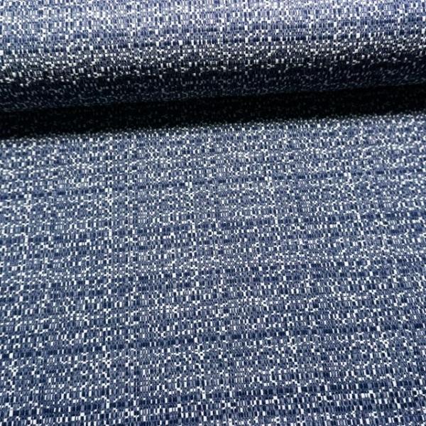 Jacquard Dekostoff jeansblau