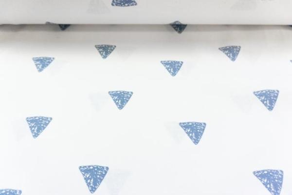 Baumwolle/Webware Drawing Triangle weiß-jeans Ökotex 100