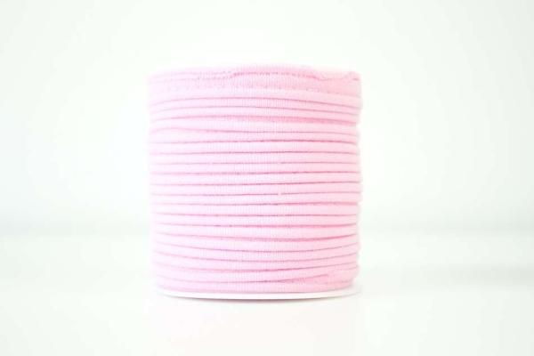 Jersey Paspelband rosa elastisch