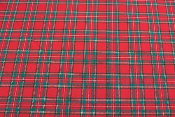 Fashionstoff Schottenkaro Twill elastisch klassisch rot-grün KLEIN Ökotex 100